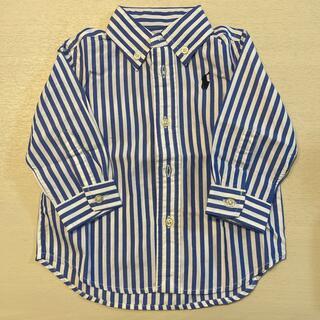 ポロラルフローレン(POLO RALPH LAUREN)のラルフローレン ベビー ストライプ長袖シャツ 12M(シャツ/カットソー)