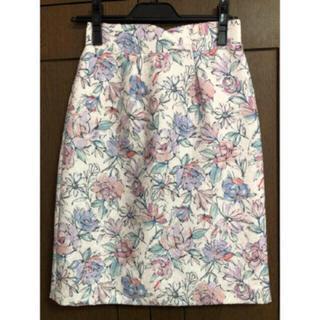 プロポーションボディドレッシング(PROPORTION BODY DRESSING)のドローイングフラワータイトスカート(ミニスカート)