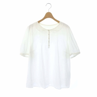 フランシュリッペ(franche lippee)のフランシュリッペ ブラウス シャツ 襟レース 刺繍 半袖 FL5 白 ホワイト(シャツ/ブラウス(半袖/袖なし))