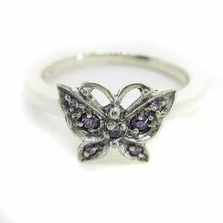 アナスイ(ANNA SUI)のアナスイ ANNA SUI 指輪 リング 925 蝶モチーフ 9号 シルバー 紫(リング(指輪))