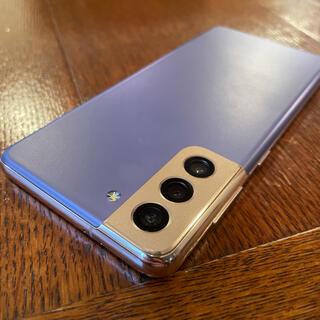 ギャラクシー(Galaxy)の【美品】Galaxy S21 5G SIMフリー ファントムヴァイオレット(スマートフォン本体)