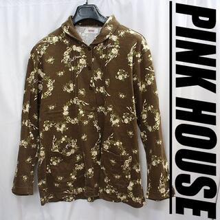 ピンクハウス(PINK HOUSE)のピンクハウス 小花柄!少し厚手のブラウスシャツLサイズ 長袖カットソー 金子功(シャツ/ブラウス(長袖/七分))
