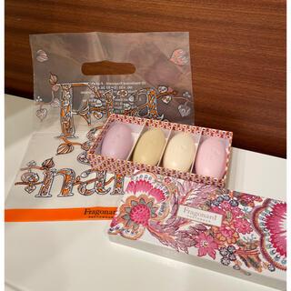 フラゴナール(Fragonard)のフラゴナール Fragonard   石鹸4個 ☆包装、袋付き☆(ボディソープ/石鹸)