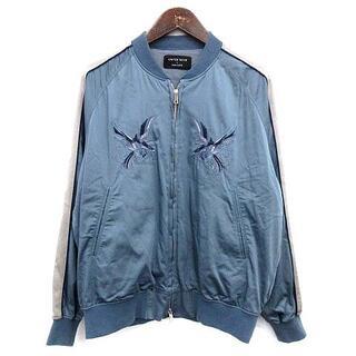 ユナイテッドトウキョウ スカジャン 刺繍 ブルゾン ジャケット 鷲 1 水色