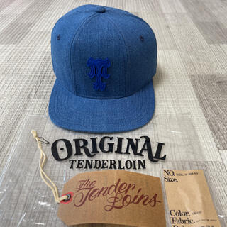 テンダーロイン(TENDERLOIN)の新作! TENDERLOIN ベースボール キャップ デニム ウォッシュ 青 紺(キャップ)