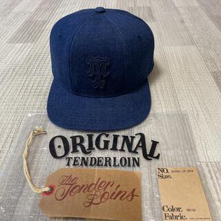 テンダーロイン(TENDERLOIN)の新作! TENDERLOIN ベースボール キャップ デニム インディゴ 青 紺(キャップ)