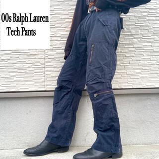 POLO RALPH LAUREN - 00s ラルフローレン テック系 カーゴパンツ テクノ ギミック 裾絞り