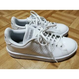 adidas - adidas アディダス 白 ホワイト スニーカー ツヤ
