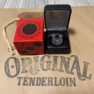 テンダーロイン(TENDERLOIN)の人気品! TENDERLOIN ホースシューリング ダイヤモンド シルバー 13(リング(指輪))