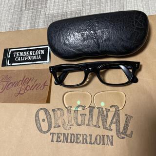 テンダーロイン(TENDERLOIN)の絶版! TENDERLOIN 白山眼鏡 インザウィンド ブラック シルバー 黒銀(サングラス/メガネ)