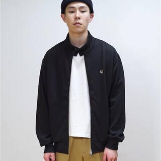 FRED PERRY - FRED PERRY JERSEY HARRINGTON JACKET