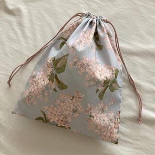 リバティ 巾着袋 ハンドメイド Archive Lilacアーカイブ ライラック(外出用品)