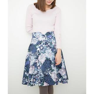 プロポーションボディドレッシング(PROPORTION BODY DRESSING)のビッグフラワージャガードプリントフレアースカート(ひざ丈スカート)