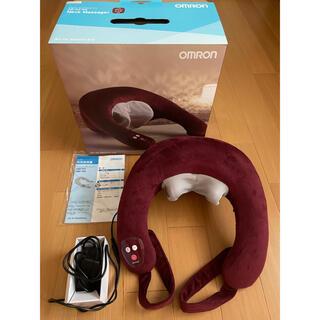 オムロン(OMRON)の未使用 オムロン HM-142-WR ワインレッド ネックマッサージャ(マッサージ機)