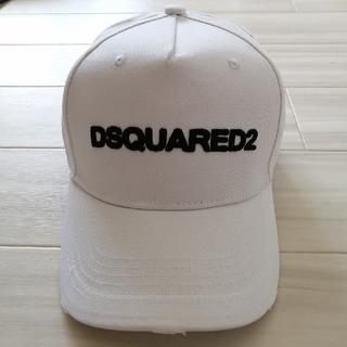 ディースクエアード(DSQUARED2)の【新品未使用】DSQUARED 2 キャップ 帽子 白(キャップ)