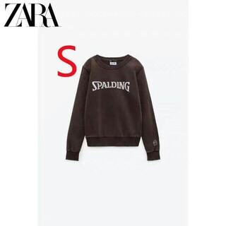 ZARA - 《新品タグ付き》ZARAフェイド SPALDING ? スウェットシャツ L