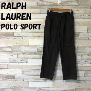 ラルフローレン(Ralph Lauren)のラルフローレンポロスポーツ バックロゴ刺繍パンツ 裾広がり サイズ6 レディース(カジュアルパンツ)