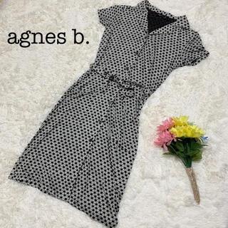 agnes b. - agnes b. アニエスベー ワンピース 総柄 サイズ1 裏地なし