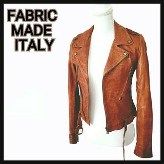 FABRIC MADE ITALY ライダース ジャケット イタリア製の生地使用(ライダースジャケット)