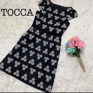 トッカ(TOCCA)の【美品】TOCCA トッカ  ワンピース 花柄 刺繍 総柄 サイズ0(ひざ丈ワンピース)