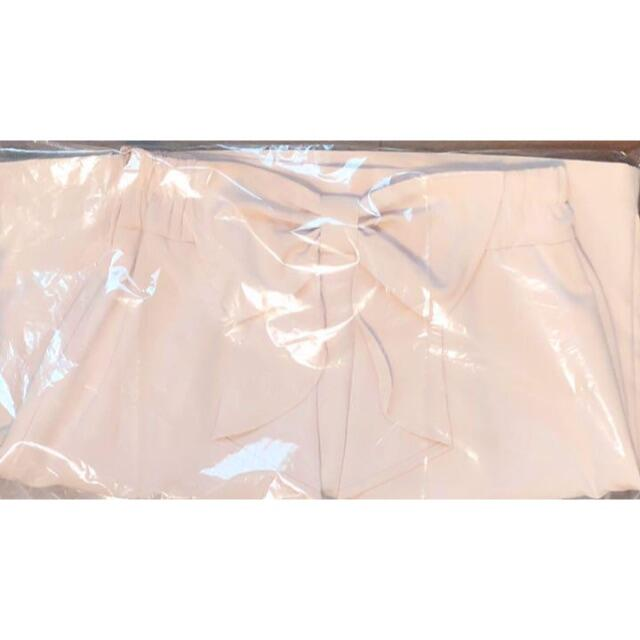 allamanda(アラマンダ)の新品 allamanda アラマンダ バックリボン スカート ベージュ レディースのスカート(ひざ丈スカート)の商品写真