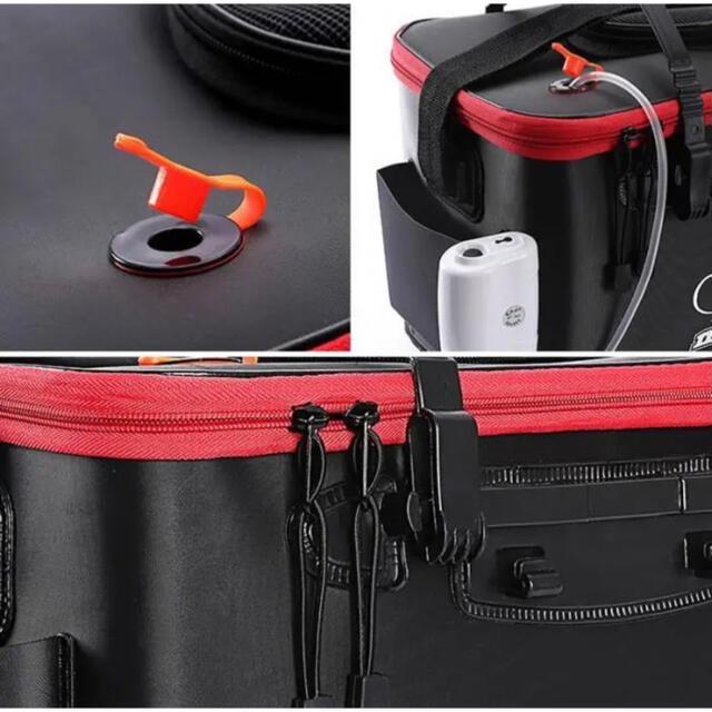 釣りバケツバッカン 40cm折りたたみ EVA製エアーポンプ付き スポーツ/アウトドアのフィッシング(その他)の商品写真
