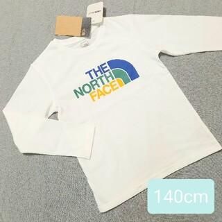 ザノースフェイス(THE NORTH FACE)の大特価 新品ザノースフェイス ロゴプリント長袖Tシャツ140cm(Tシャツ/カットソー)