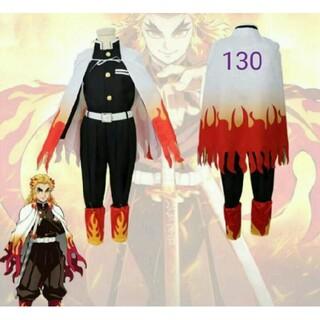鬼滅の刃 煉獄杏寿郎 子供用 コスプレ衣装 130(衣装一式)