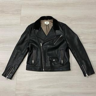 エイチアンドエム(H&M)のH&M 本革 ライダース ブラック(ライダースジャケット)