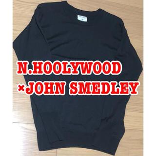 エヌハリウッド(N.HOOLYWOOD)のジョンスメドレー×エヌハリウッド メリノウール ニット ブラック(ニット/セーター)