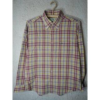 Crocodile - o3718 クロコダイル 日本製 長袖 涼しげ チェック ボタンダウン シャツ