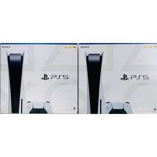 プレイステーション(PlayStation)の【新品・未開封】プレイステーション5  PS5  2台 セット(家庭用ゲーム機本体)