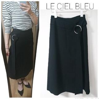 ルシェルブルー(LE CIEL BLEU)の定価20000円程 ルシェルブルー ジョーゼット スカート(ロングスカート)