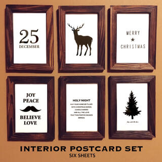 6枚セット!ポストカード!クリスマス インテリア ツリー 名言 格言 アート
