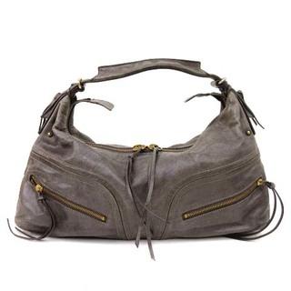 サザビー(SAZABY)のサザビー ハンドバッグ レザー 皮革 グレー 鞄(ハンドバッグ)