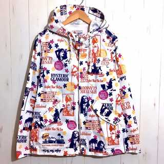 HYSTERIC GLAMOUR - 美品 ヒステリックグラマー ガール 総柄 ナイロン ジャケット パーカー