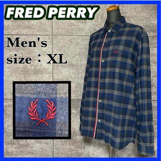 FRED PERRY - 【秋物】FRED PERRY フレッドペリー 長袖 シャツ メンズ サイズXL