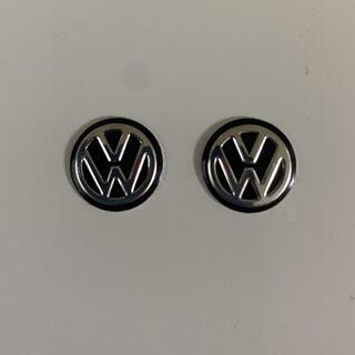 フォルクスワーゲン(Volkswagen)のフォルクスワーゲン  エンブレム黒2個(車外アクセサリ)