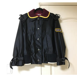 miumiu - ミュウミュウ miumiu  ブルゾン ジャケット ナイロン ニット ロゴ