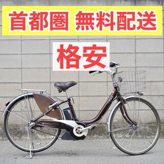 ヤマハ(ヤマハ)のヤマハ PAS 26インチ 4.0ah 電動自転車 電動アシスト 中古 茶(自転車本体)