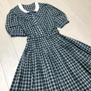 PINK HOUSE - カネコイサオ KANEKO ISAO チェック カントリー ゆったり ワンピース