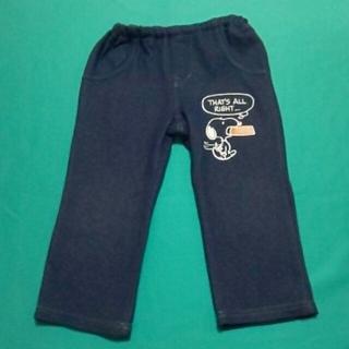 スヌーピー(SNOOPY)のスヌーピー デニム風 ズボン パンツ SNOOPY 90cm(パンツ/スパッツ)