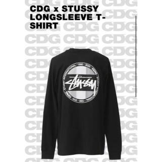 ステューシー(STUSSY)のstussy × CDG コラボ ロングスリーブTシャツ 長T  新品 ブラック(Tシャツ/カットソー(七分/長袖))