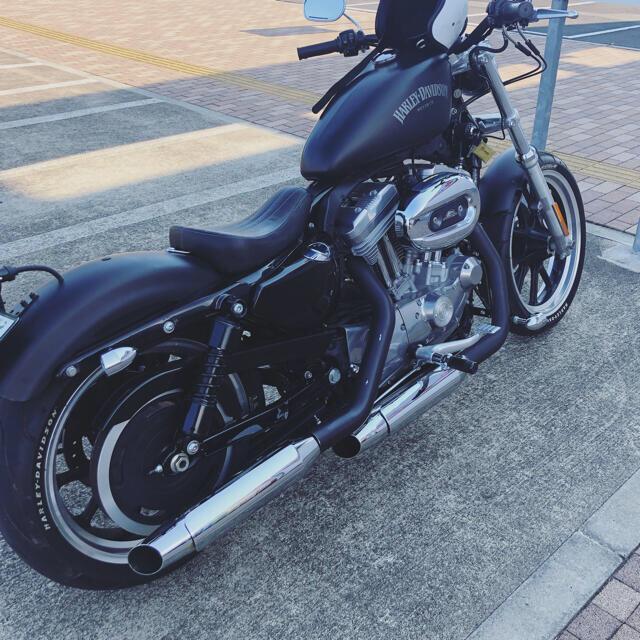 Harley Davidson(ハーレーダビッドソン)のスポーツスター マフラー 自動車/バイクのバイク(パーツ)の商品写真