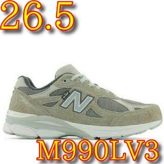 ニューバランス(New Balance)の26.5cm LEVI'S New Balance 990v3 リーバイス(スニーカー)