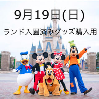 Disney - ディズニーランド 9/19 入園済み グッズ購入用