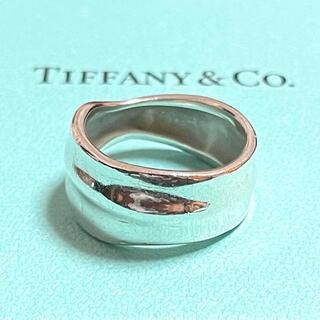 Tiffany & Co. - ティファニー ヴィンテージ リング リーフ 葉っぱ 12号 13号 シルバー
