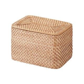 ムジルシリョウヒン(MUJI (無印良品))の無印良品 ラタンBOX 美品(バスケット/かご)