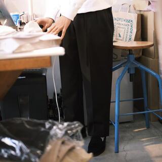 COMOLI - NEAT ニート Wool Gabardine/Tapered 46 ブラック