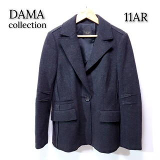 ディノス(dinos)の【美品♪】ディノス ダーマコレクション ウール テーラードジャケット ブラック(テーラードジャケット)